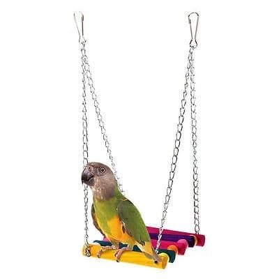 Cockatiel Cage Parakeet Hammock Pet Swing Toys Colorful Bird Nest Pet Parrot Hanging Toy