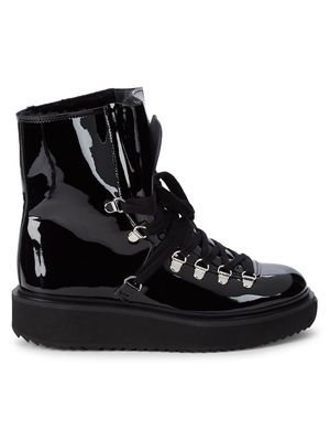 Kenzo Shearling-Lined Patent Leather Boots