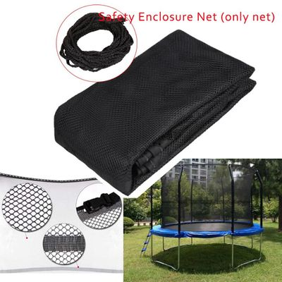 Outdoor Trampoline Net Replacement Trampoline Bounce Safety Enclosure Net For Round Frame Trampoline 14 Feet 8 Pole