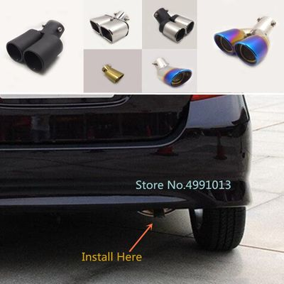 cover muffler exterior end pipe dedicate exhaust tip tail outlet ornamentFor Honda Fit jazz 2004 2005 2006 2007 2008 2009 2010