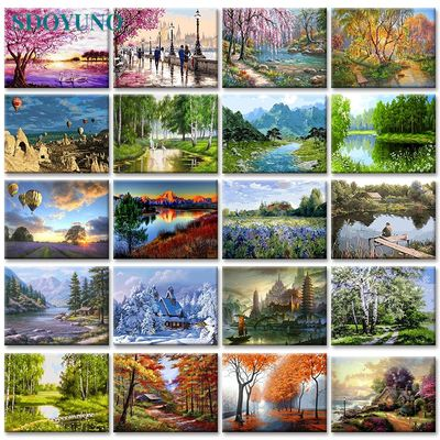 SDOYUNO 60x75cm Frameless painting by numbers Nature Landscape On Canvas pictures by numbers Home Decoration DIY For Unique Gift