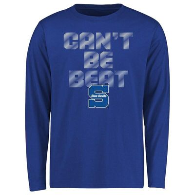 Wisconsin Stout Blue Devils Youth Can't Be Beat Long Sleeve T-Shirt - Royal