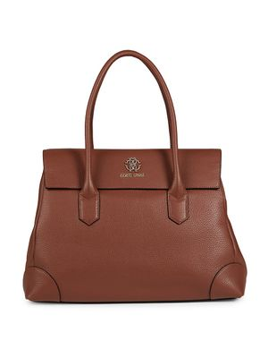 Roberto Cavalli Flap Leather Satchel