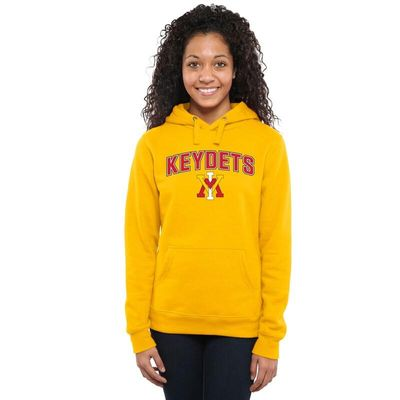 Virginia Military Institute Keydets Women's Proud Mascot Pullover Hoodie - Yellow