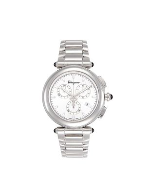 Salvatore Ferragamo Stainless Steel Chronograph Watch