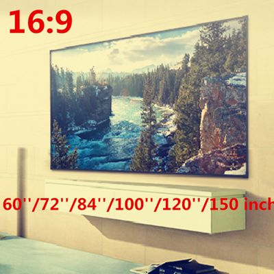 Foldable 16:9 Projector 60 72 84 100 120 150 inch White Projection Screen edging projector screen TV home audio-visual screen