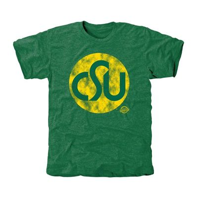 Colorado State Rams Old Main Collection 1974 Tri-Blend T-Shirt - Green