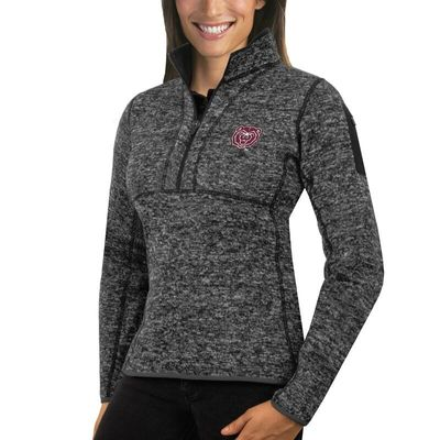 Missouri State University Bears Antigua Women's Fortune 1/2-Zip Pullover Sweater - Charcoal