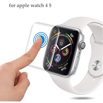 Full Protective Film For Apple Watch series 6 5 4 for iwatch band 44mm 40mm 9D Anti-Shock TPU Screen Protector watch Accessories