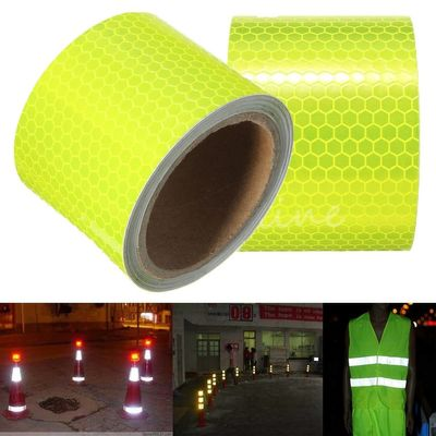 For 300cm Fluorescence Yellow Reflective Safety Warning Conspicuity Tape pasted on ground or object surface