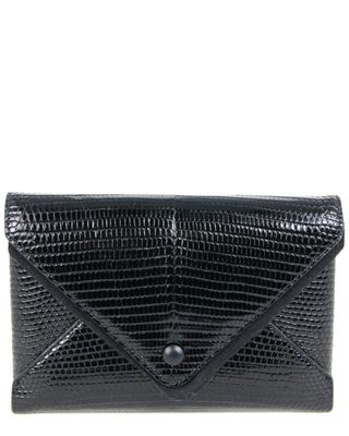 The Row Envelope Lizard-Embossed Leather Wallet On Chain