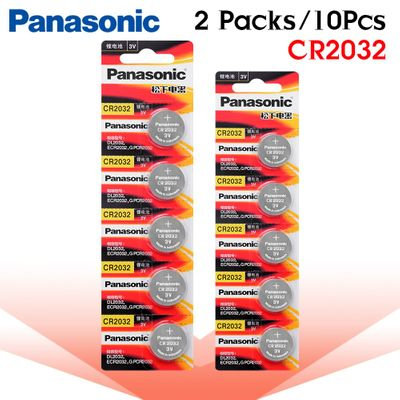 10pcs new battery for PANASONIC cr2032 3v button cell coin batteries for watch computer cr 2032 ECR2032 For Toys Watches