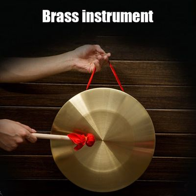 New Hand Gong with Wooden Stick Traditional Chinese Folk Musical Instrument Toy for Kids XD88