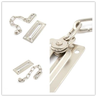 1pc Chrome Chain Door Safety Guard Latch Security Peep Bolt Locks Cabinet Latches DIY Home Tools