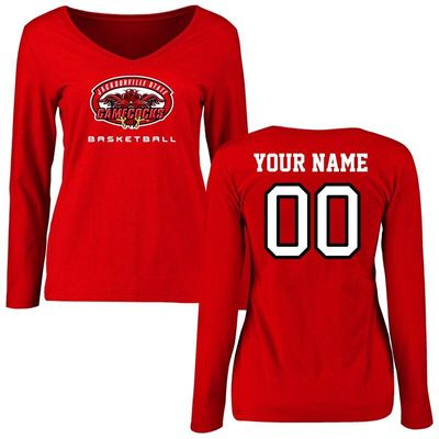 Jacksonville State Gamecocks Women's Personalized Basketball Long Sleeve T-Shirt - Red