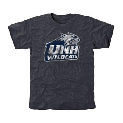 New Hampshire Wildcats Classic Primary Tri-Blend T-Shirt - Navy Blue