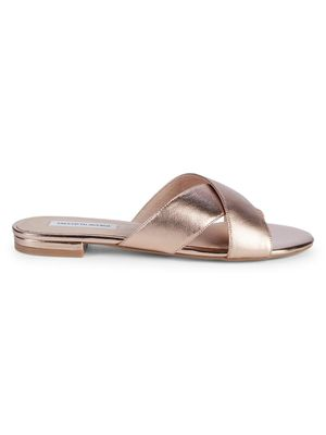 Saks Fifth Avenue Tortuga Leather Slides