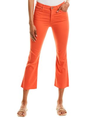 AG Jeans The Jodi Faded Azalea High-Rise Slim Flare Crop