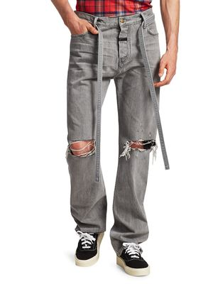 Fear of God Relaxed Distressed Tie-Waist Jeans