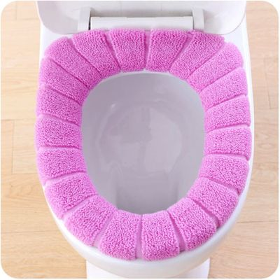 1PCS Toilet Seat Cover Bathroom Warmer Toilet Seat Bowl Stretchable Washable Cover Pad Toilet Accessories tapa inodoro #N