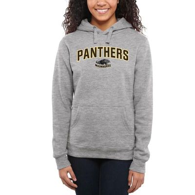 Wisconsin-Milwaukee Panthers Women's Proud Mascot Pullover Hoodie - Ash -