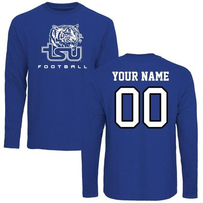Tennessee State Tigers Personalized Football Long Sleeve T-Shirt - Royal
