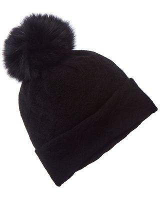 Hannah Rose Pom Cross Country Stitch Wool & Cashmere-Blend Hat