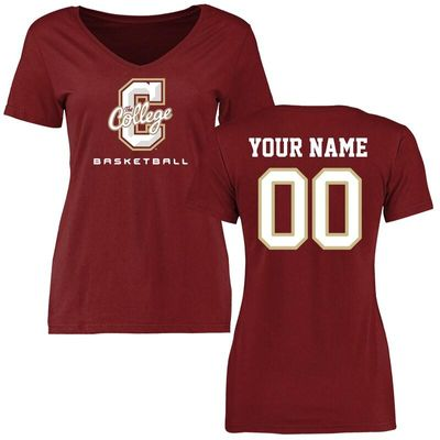 Charleston Cougars Women's Personalized Basketball T-Shirt - Maroon
