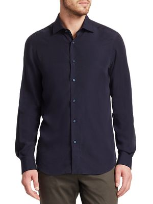 Saks Fifth Avenue COLLECTION Solid Tencel Cotton Shirt