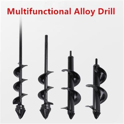 2020 New Earth Alloy Drill Ice drill Garden Auger Spiral Drill Flower Planter Auger Yard Gardening Planting Hole Digger Tool
