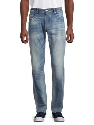 Diesel Regular Straight-Fit Faded Jeans