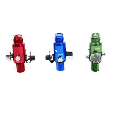 PCP Airforce HPA Regulator 4500PSI 1800PSI Output M18 Draft Green Red Blue