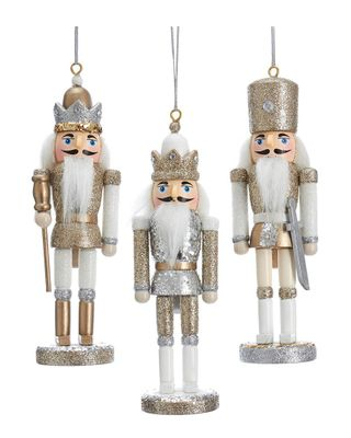 Kurt Adler Set of 3A Silver Nutcracker Ornaments