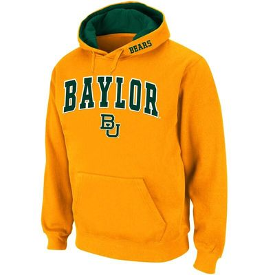 Baylor Bears Stadium Athletic Arch & Logo Pullover Hoodie - Gold