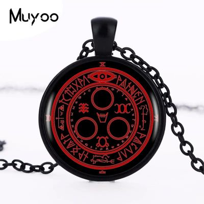 1pcs/lot Hot Sale Silent Hill Halo Of The Sun Logo Pendant Necklace Handmade Vintage Round Black Necklace Women Jewelry HZ1