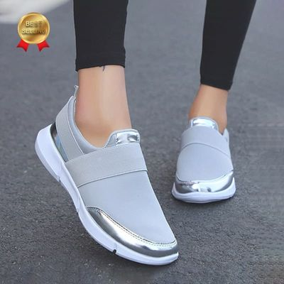 Spring Women Slip On Loafers Ladies Casual Comfortable Flats Female Breathable Stretch Cloth Shoes Fashion Zapatillas 2020