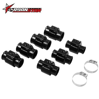 Ryanstar Racing- 1pc 28mm - 40mm Black Water Temp Racing Gauge Radiator Hose Sensor Adaptor Instrument Accessories