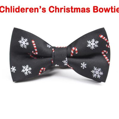 New Christmas Kids Bow Tie Snowflake Christmas Tree Pattern Bow Tie For Children Kids Gifts Red Blue Bowtie Size 9cm*4.5cm