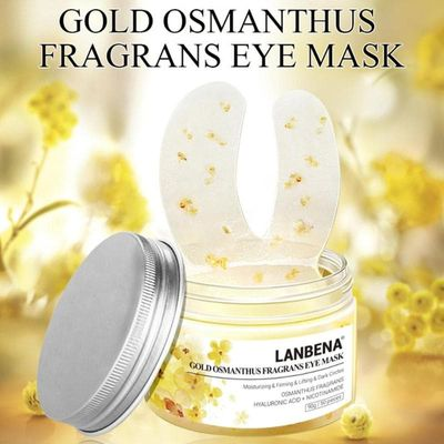 50PCS Gold Osmanthus Eye Patches Mask Collagen Gel Protein Sleep Patche Remover Dark Circles Eye Bag Eye Care Against Puffines