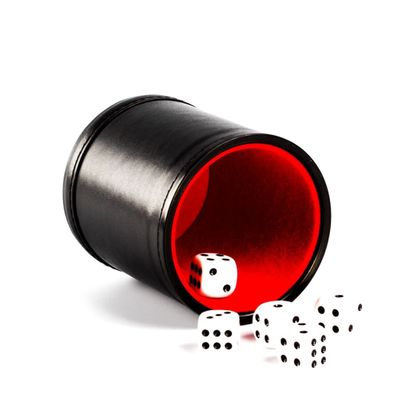Foreign Trade New PU Leather Flannel Mute Dice Cup Bar Game Supplies
