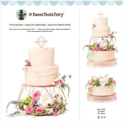 American Crafts Sweet Tooth Fairy Tiered Cake Stand 19pcs-Rose Gold