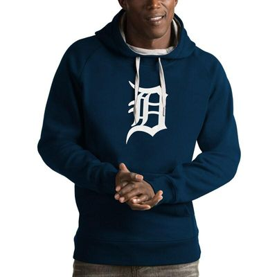 Detroit Tigers Antigua Victory Pullover Hoodie - Navy