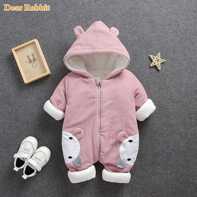 CYSINCOS Baby Rompers Overalls Clothes 2020 Winter Boy Girl Garment Thicken Warm Cotton Outerwear Coat Jacket Kids Snow Wear