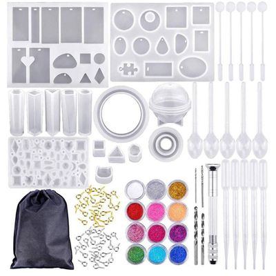 83Pc Silicone Casting Molds And DIY Crystal Epoxy Tool Set with Drill and Bag Pendant Mold For Jewelry Bracelet Craft Making #10