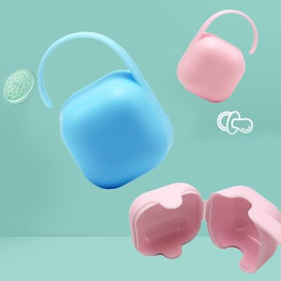 Portable Baby Infant Pacifier Nipple Teat Cradle Case Holder Travel Storage Box Child care products Baby feeding supplies