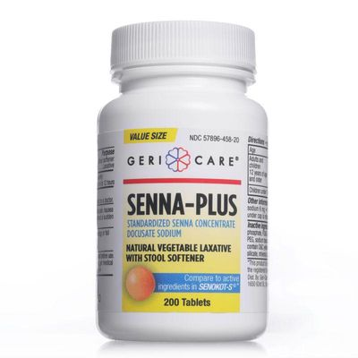 Senna Plus   Natural Vegetable Laxative with Stool Softener - 200 Count Tablets