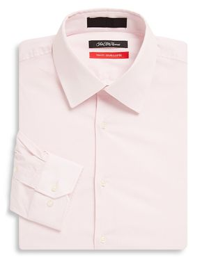 Saks Fifth Avenue Solid Cotton-Blend Long-Sleeve Shirt