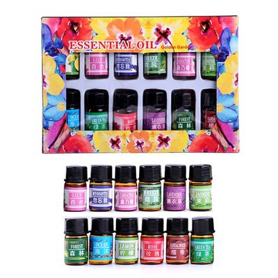 3ml*12 Bottles Aromatic Plant Water-soluble Fragrance Oil To Relieve Stress Essential Oils for Aromatherapy Diffusers TSLM1