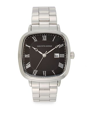 Saks Fifth Avenue Square Stainless Steel Watch