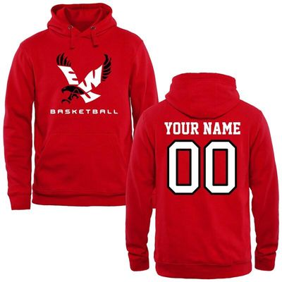 Eastern Washington Eagles Personalized Basketball Pullover Hoodie - Red